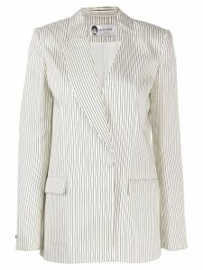 Lanvin asymmetric striped blazer - White