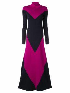 Layeur knitted colour block dress - Blue