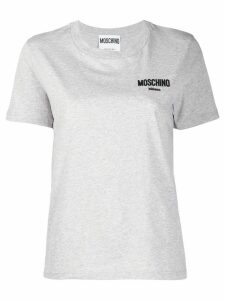 Moschino logo crewneck T-shirt - Grey
