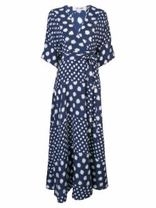 Diane von Furstenberg polka-dot maxi dress - Blue