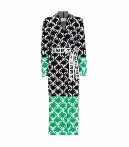 Marrakesh Palm Print Belted Duster
