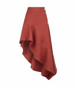 Ella Linen Asymmetric Skirt