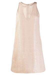 Emporio Armani sequin shift mini dress - Neutrals
