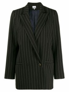 Ganni double breasted blazer - Black