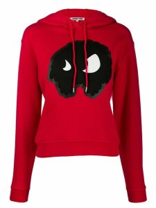 McQ Alexander McQueen monster print hoodie - Red