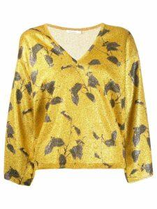 Mes Demoiselles Garfield glitter jumper - Gold