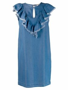Semicouture raw hem denim dress - Blue