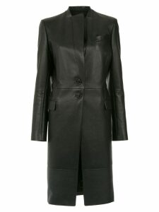 Gloria Coelho leather trench coat - Black