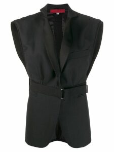 Di Liborio boxy belted waistcoat - Black
