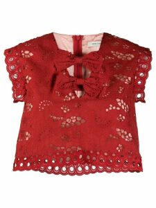 Three Floor Sea Of Spice top - Red