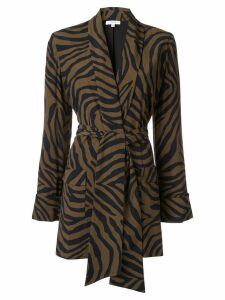 Layeur zebra print blazer - Brown
