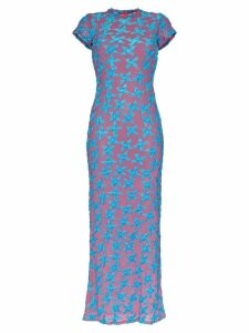 Eckhaus Latta velvet and mesh maxi dress - Multicolour