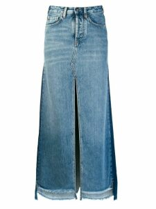 Marcelo Burlon County Of Milan two-tone denim skirt - Blue