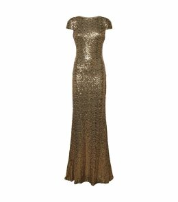 Cowl Back Sequin Gown