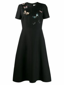Valentino embroidered crêpe couture dress - Black