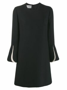Valentino layered sleeves couture dress - Black