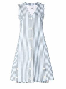 Thom Browne Bar Stripe A-Line Vest Dress - Black