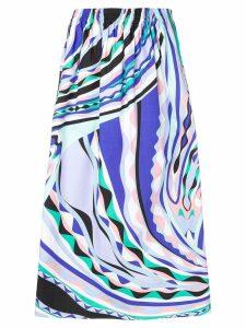 Emilio Pucci Burle Print Midi Skirt - Blue