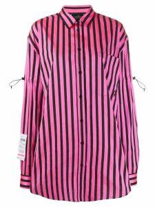 Marcelo Burlon County Of Milan striped shirt dress - Pink