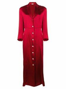 Thom Browne Seamed Satin Corset Dress - Red