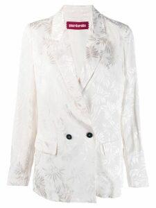 Guardaroba floral print blazer - White