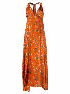 Seren floral print maxi dress - Orange