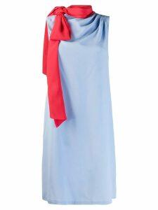 L'Autre Chose tie neck shift dress - Blue