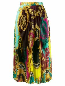 Versace baroque printed pleated skirt - Green