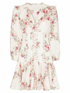 Zimmermann Honour floral print corset mini dress - Multicolour