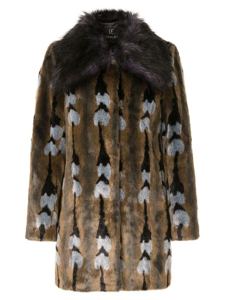Unreal Fur faux fur Reflections Coat - Multicolour
