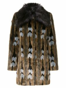 Unreal Fur faux fur Reflections Coat - Multicolour