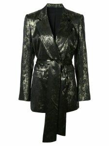 Layeur belted blazer - Metallic