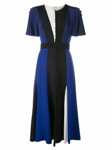 Prabal Gurung flutter sleeve midi dress - Blue