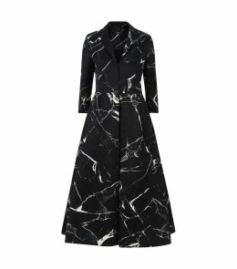 Marble Effect Coat Dress