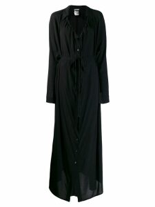 Ann Demeulemeester maxi shirt dress - Black