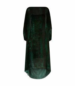 Devoré Velvet Kaftan Dress