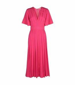 Zandra V-Neck Pleated Dress