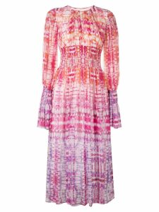Prabal Gurung smocked midi dress - Multicolour