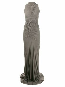 Rick Owens Lilies ruched fishtail evening gown - Grey