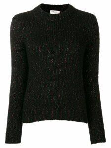 Saint Laurent metallic threaded jumper - Black