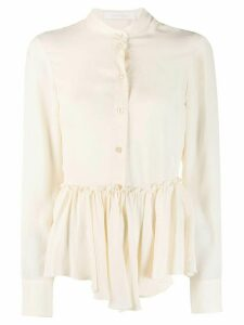 See By Chloé ruffled hem shirt - Neutrals
