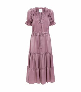 Margaux Puff Sleeve Midi Dress