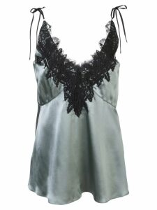 Dorothee Schumacher lace embroidered camisole top - Blue