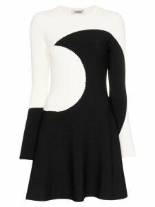 Valentino Luna intarsia flared mini dress - Black