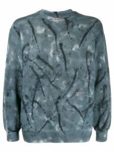 Eckhaus Latta tie dye sweatshirt - Blue