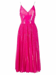 MSGM sequin pleated dress - Pink