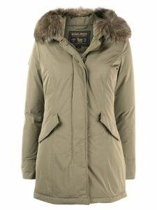 Woolrich fur hood parka - Green