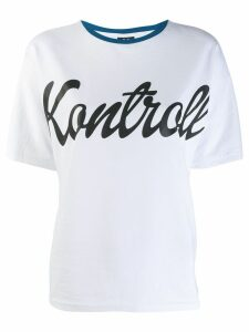 Kappa Kontroll Kontrol print T-shirt - White