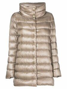 Herno funnel-neck padded coat - Neutrals
