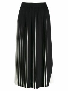Maison Margiela contrast pleated midi skirt - Black